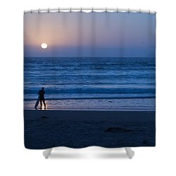 Sunset Surfer Shower Curtain by Heidi Smith
