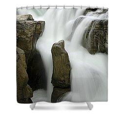 Sunwapta Falls 2 Shower Curtain by Bob Christopher