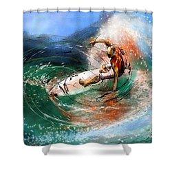 Surfscape 03 Shower Curtain by Miki De Goodaboom