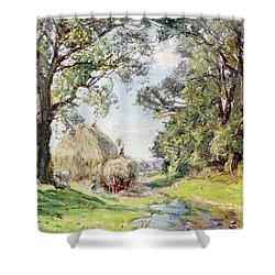 Surrey Landscape  Shower Curtain by Edmund George Warren