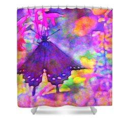 Swallowtail Shower Curtain by Judi Bagwell