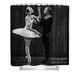 Swan Lake  White Adagio  Russia Shower Curtain by Clare Bambers