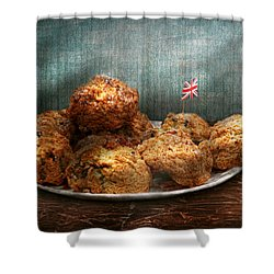 Sweet - Scone - Scones Anyone Shower Curtain by Mike Savad