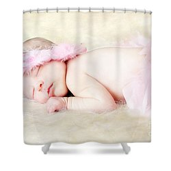 Sweet Baby Girl Shower Curtain by Darren Fisher