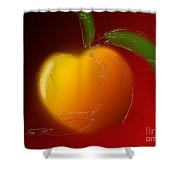 Sweet Peach 1 Shower Curtain by Andee Design