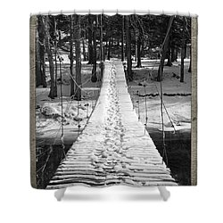 Swinging Cable Foot Bridge Shower Curtain by John Stephens