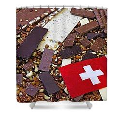 Swiss Chocolate Shower Curtain by Joana Kruse