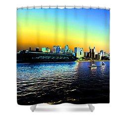 Sydney In Color Shower Curtain by Douglas Barnard