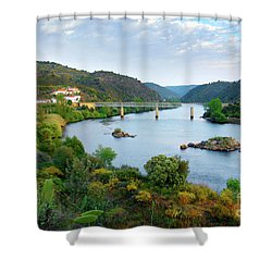 Tagus Landscape Shower Curtain by Carlos Caetano