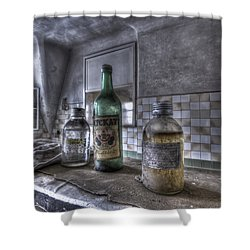 Take Your Soviet Medicine Shower Curtain by Nathan Wright