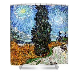 Tall Trees In The Night Shower Curtain by Sumit Mehndiratta