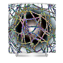 Tangled Web Shower Curtain by Will Borden