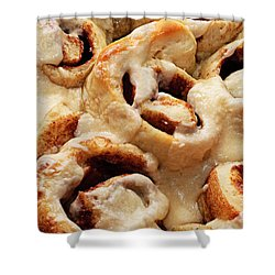Taste Of Home Cinnamon Rolls Shower Curtain by Andee Design