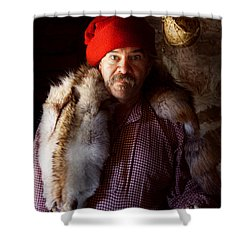 Taxidermist - Jaque The Fur Trader Shower Curtain by Mike Savad