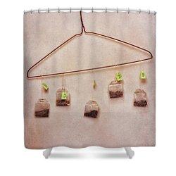 Tea Bags Shower Curtain by Priska Wettstein