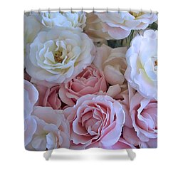 Tea Time Roses Shower Curtain by Carol Groenen