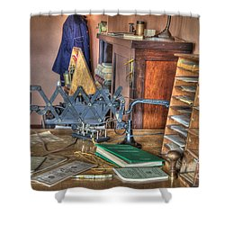Telegraph Office At Kelso Shower Curtain by Bob Christopher