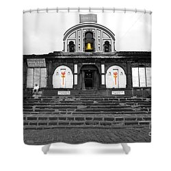 Temple At India Shower Curtain by Sumit Mehndiratta