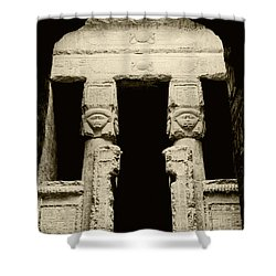 Temple Of Hathor Shower Curtain by Photo Researchers, Inc.