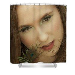 Tempting Shower Curtain by Daniel Csoka