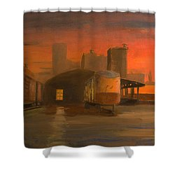 Terminal Transfer Shower Curtain by Christopher Jenkins