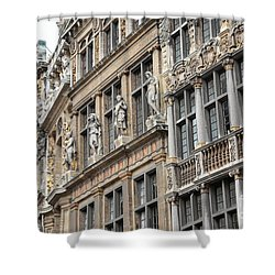 Textures Of Brussels Shower Curtain by Carol Groenen