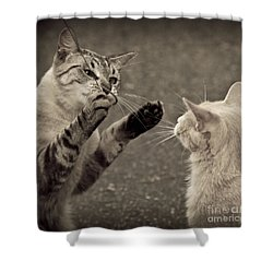 That Mouse Was This Big Shower Curtain by Kim Henderson