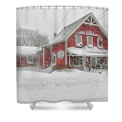 The 1856 Country Store On Main Street In Centerville On Cape Cod Shower Curtain by Matt Suess