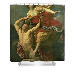 The Abduction Of Deianeira Shower Curtain by  Centaur Nessus