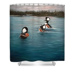 The Actors Shower Curtain by Dee Carpenter
