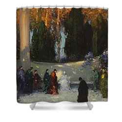 The Audience Shower Curtain by TE Mostyn