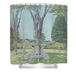 The Audition Shower Curtain by Childe Hassam