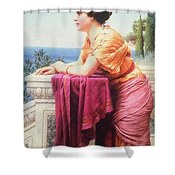 The Belvedere Shower Curtain by John William Godward