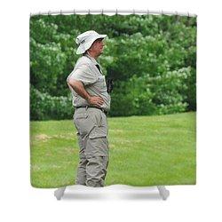 The Birdwatcher Shower Curtain by Paul Ward