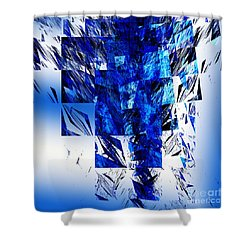 The Blue Chandelier Shower Curtain by Andee Design