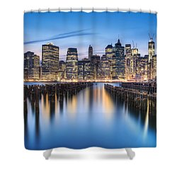 The Blue Hour Shower Curtain by Evelina Kremsdorf