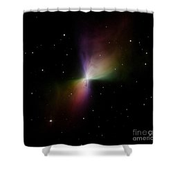 The Boomerang Nebula Shower Curtain by Stocktrek Images