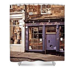The Bow Bar. Edinburgh. Scotland Shower Curtain by Jenny Rainbow