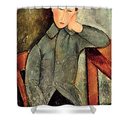 The Boy Shower Curtain by Amedeo Modigliani