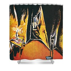 The Cabinet Of Dr Caligari Shower Curtain by Georgia Fowler