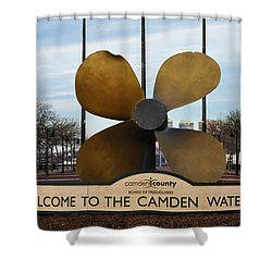 The Camden Waterfront Shower Curtain by Bill Cannon