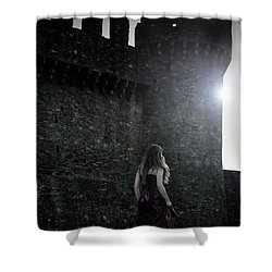 The Castle Shower Curtain by Joana Kruse