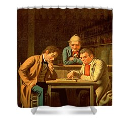 The Checker Players Shower Curtain by George Caleb Bingham