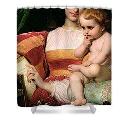 The Childhood Of Pico Della Mirandola Shower Curtain by Hippolyte Delaroche