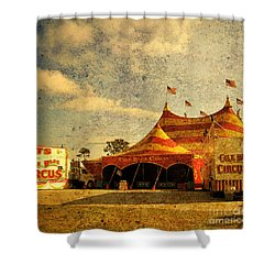 The Circus Is In Town Shower Curtain by Susanne Van Hulst