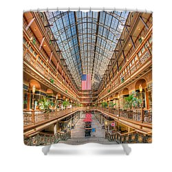 The Cleveland Arcade II Shower Curtain by Clarence Holmes