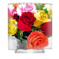 The Color Of A Rose Shower Curtain by Joan  Minchak