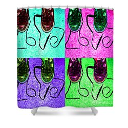 The Color Of Love Shower Curtain by Paul Ward