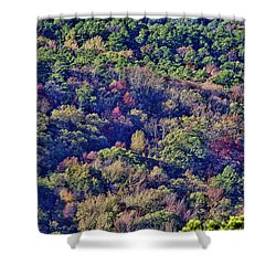 The Colors Of Autumn Shower Curtain by Douglas Barnard