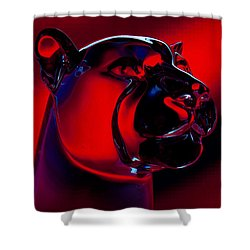 The Cougar Shower Curtain by David Patterson